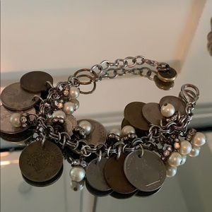 Authentic French coin bracelet